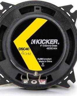 Kicker 4″ DSC404 120W Speaker (Set of 2)