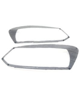 Carbon Fibre Headlight Covers For VW Polo 6