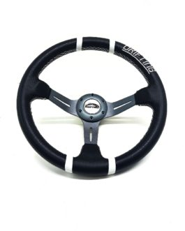 Drifting Carbon Fibre / White Steering Wheel