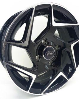 14″ Ford 4/108 Black Machine Face