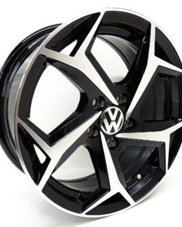 15″ VW Polo 8 5/100 Black Machine Face